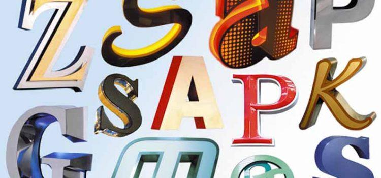 Как подобрать буквы для рекламной вывески