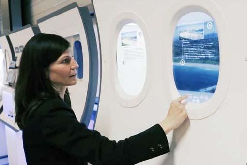 Французы превратили иллюминаторы в сенсорные планшеты